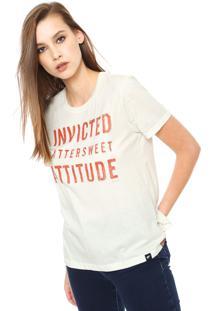 Camiseta Ellus Devorê Cristal Off-White