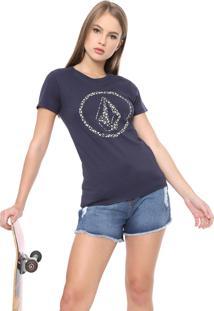 Camiseta Volcom Daisy For You Azul-Marinho