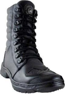 Bota Atron Shoes Tática C/ Protetor De Câmbio - Masculino-Preto