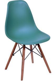 Cadeira Em Mdp/Mdf Base Escura 1102-Or Design - Azul Petróleo