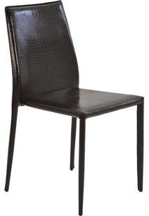 Cadeira Pvc Crocco Amanda-Rivatti - Marrom