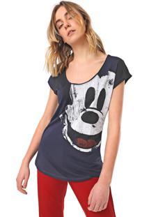Camiseta Desigual Mickey Azul-Marinho