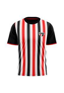 Camisa Sáo Paulo Braziline Part Masculina - Preto