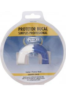 Protetor Bucal Punch Dual Color - Branco/Azul