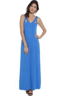 Vestido Longo Energia Fashion Azul
