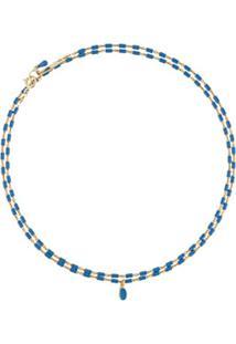 Isabel Marant Beaded Chain Necklace - Azul
