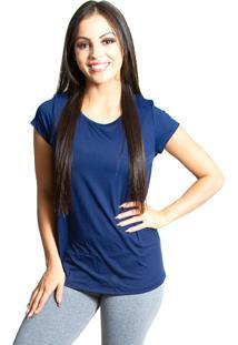 Camiseta Aerodry Luasal Manga Curta Azul