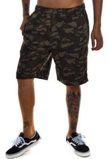 Bermuda Jota K Camuflada De Sarja Masculina - Masculino