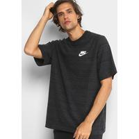 9c5ba89c58 Camiseta Nike Nsw Masculina - Masculino-Preto+Branco