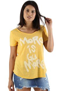 T-Shirt It'S & Co Glamore Amarelo Mescla - Amarelo - Feminino - Dafiti