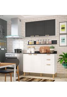 Cozinha Compacta Nevada Iii 5 Pt 3 Gv Branca E Grafite