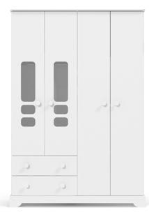 Roupeiro 4 Portas Smart Branco-Acetinado Matic