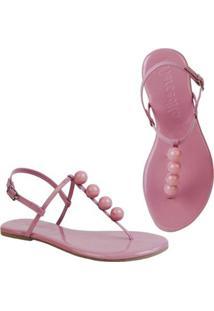Sandália Rasteira Mercedita Shoes Flat Pirâmide Feminina - Feminino-Rosa