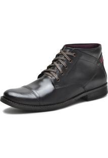 Bota Casual Over Boots Denver Couro Soft Marrom Escuro - Kanui