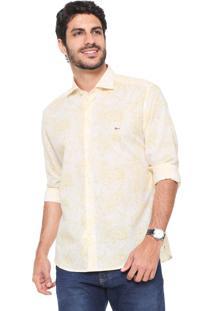 e6e9555954 Camisa Aramis Reta Estampada Amarela