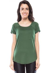 Camiseta Mulher Elastica New Pocket Vis Up - Verde