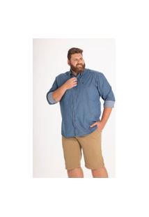 Bermuda Masculina Plus Size Cotelê Verde Longford 58