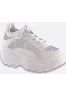 Tênis Feminino Chunky Sneaker Glitter Zatz