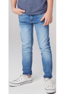 Calça Jeans Infantil Menino Com Destroyed Hering Kids