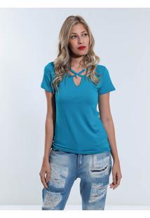 Camiseta Com Pérola Feminina Acrobat