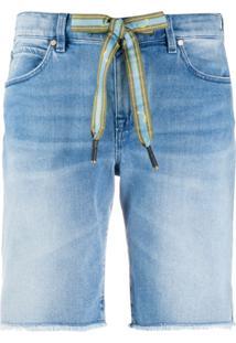Jacob Cohen Bermuda Jeans Com Ajuste No Cós - Azul