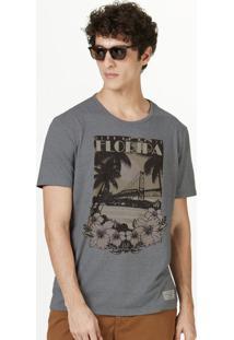 Camiseta Masculina Manga Curta Com Estampa Frontal