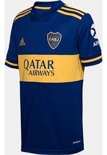 Camisa Boca Juniors Infantil Home 20/21 S/N° Torcedor Adidas - Masculino
