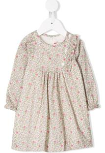 Bonpoint Vestido Com Estampa Floral - Neutro