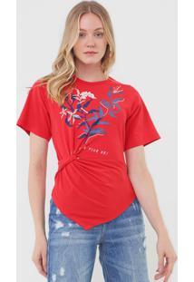 Camiseta Forum Estampada Vermelha - Kanui