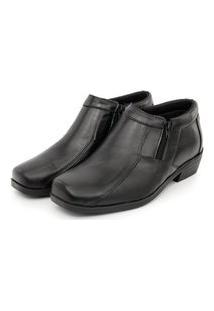 Sapato Botina Masculino Social Zíper Em Couro Br2 Footwear Preto