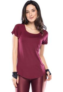 Camiseta New Pocket Vis Up - Bordo Escuro