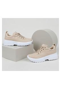 Tênis Feminino Oneself Sneaker Chunky Bege