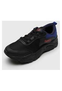Tênis Dad Sneaker Chunky Fiveblu Nasa Preto