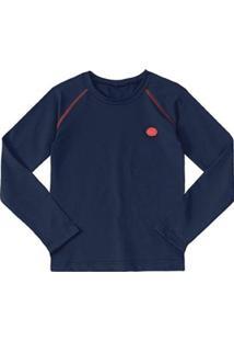 Camiseta Marisol Infantil Feminina - Feminino-Azul