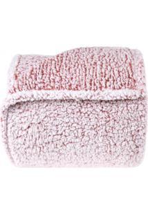 Manta Microfibra Queen Everest - Toque Lã De Carneiro - Bene Casa - Rosa Vinho