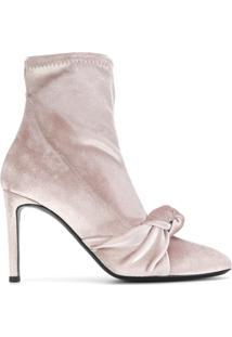Giuseppe Zanotti Design Bota 'Josephine' De Veludo - Nude & Neutrals