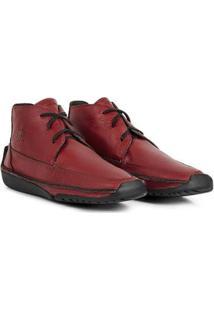 Bota Em Couro Hayabusa Duna 50 - Masculina - Masculino-Vermelho