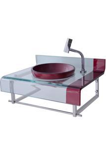 Gabinete Para Banheiro De Vidro Mini Chopin Astra Vermelho