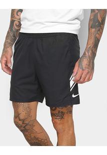 Short Nike Dry 7In Masculino - Masculino-Branco+Preto