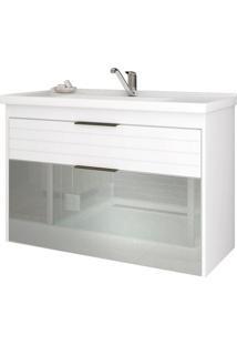 Gabinete De Banheiro Azaleia 1 Pt 1 Gv Branco 79 Cm