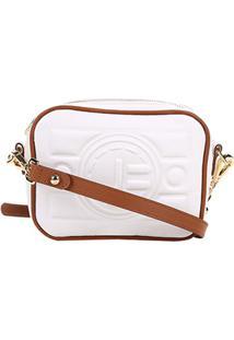 e9cba1cdb0 Bolsa Couro Jorge Bischoff Mini Bag Floater Bicolor Feminina - Feminino- Branco+Bege