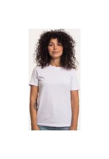 Camiseta Decote Redondo Em Algodão Sustentável Branca Branco