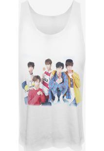 Camiseta Cropped Nerderia Kpop Imfact Coreanos Branca - Kanui