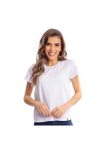 Camiseta Feminina Estonada Malha Premium Branca - Area Verde