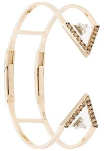 Bia Tambelli Bracelete Self Ouro 18K Com Diamante - Metálico