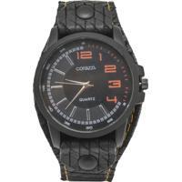 c734d188f22 Relógio Corazzi Leather Deluxe Snake Preto