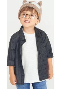 Camisa Bebê Menino Xadrez Junina