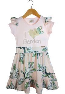 Vestido Alekids Floral I Garden Rosa