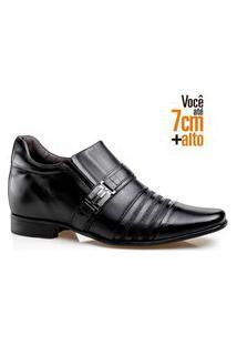 Sapato Social Rafarillo Masculino Salto 7Cm Ajuste Elástico Preto