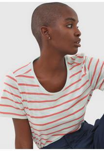 Camiseta Gap Listrada Verde - Verde - Feminino - Algodã£O - Dafiti